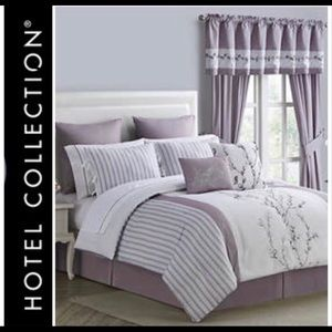 🆕Hotel Collection 12pc Queen + Curtains&Valance